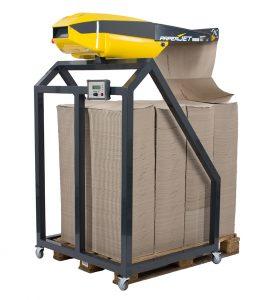 Packmaschine für Papierpolster